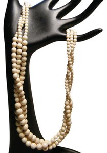 Other Genuine Ivory Classic Three Row Necklace with Graduating Beads