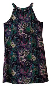 Jude Connally short dress Navy/green/purple/pink/white multi on Tradesy