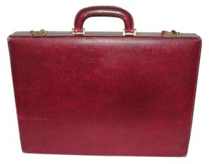 Gucci Briefcase Leather Business Case Vintage Oxblood Red Travel Bag