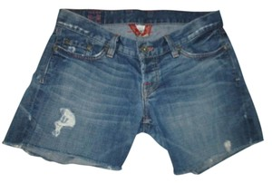 Lucky Brand Fly Cut Off Shorts blue