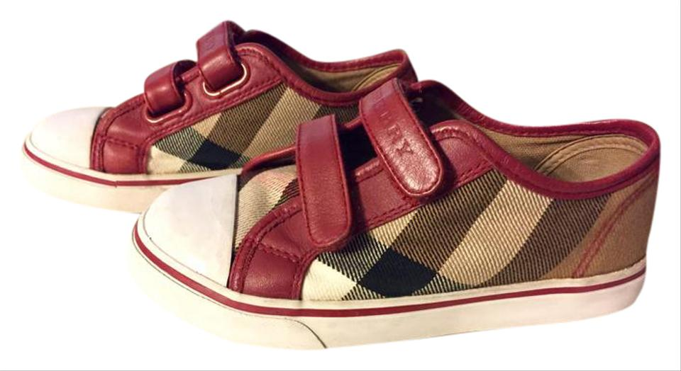 10833300ac1c Burberry Burgundy Brown White Mini Heacham Sneaker Sneakers Size US ...