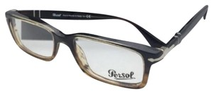 Persol PERSOL Rx-able Eyeglasses 2965-V-M 1026 55-18 145 Brown-Striped Brown