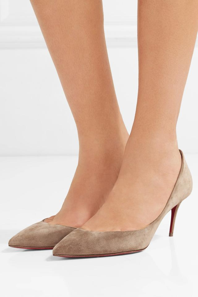 newest collection 06076 b9333 Christian Louboutin Taupe New Iriza 70mm Suede Kitten Pumps Size US 10  Regular (M, B) 14% off retail