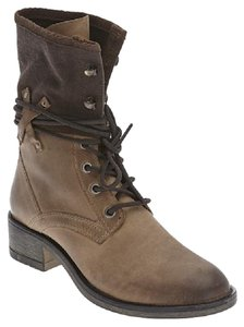 Matisse Combat Leather Textile Military tan Boots
