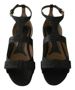 Marni Soft Suede Stamped Design Shimmer Finish Made In Italy Black Sandals