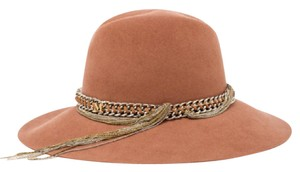Maison Michel Kate Felted Wool Hat With Chain Band