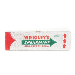 The Good Practice Wrigley's Spearmint Crystal silver, red, green Clutch