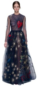 Valentino Couture Heart Embroidered Sheer Gown Sold Out Stunning Dress