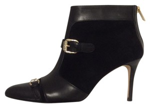 Carolina Herrera Ch Black Suede and Leather Boots
