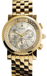 Michele Gold Diamond Sport Sail 'High Shine' Limited Edition Watch