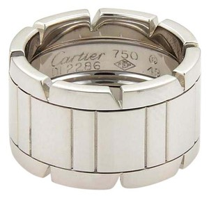 Cartier Tank Francaise 18k White Gold 11mm Band Ring Size EU 49- US 5