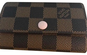 Louis Vuitton Wristlet in brown and pink ballerina rose