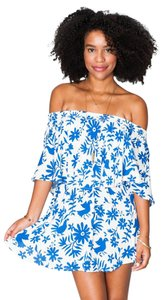 Show Me Your Mumu short dress Blue Summer Off The on Tradesy