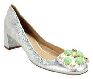 Tory Burch Silver Pumps