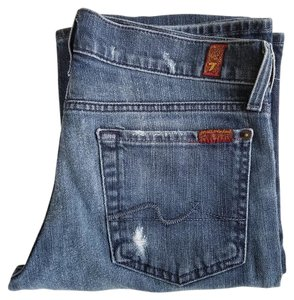 7 For All Mankind 7fam Distressed Boot Cut Jeans-Distressed