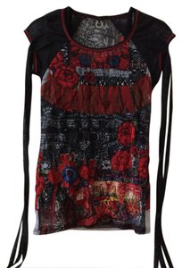 Save The Queen Top black multi