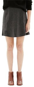 Madewell Wool Mini Skirt gray