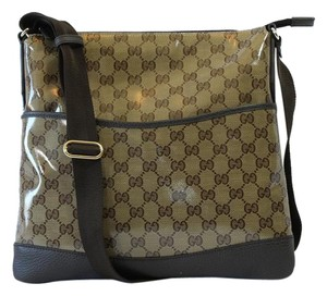 Gucci 374414 Crystal Canvas Messenger Bag