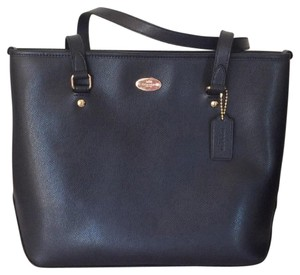 Coach Leather Nwt New With Tags Tote in Midnight