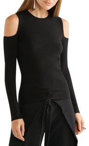 Michael Kors Mk Collection Cutout Cold Cold Top Black