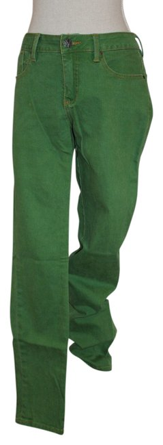Worn Jeans Green Funky Straight Leg Jeans Size 28 (4, S) Worn Jeans Green Funky Straight Leg Jeans Size 28 (4, S) Image 1