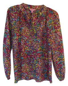 Lilly Pulitzer 100% Silk Top multi