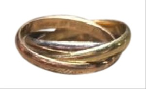 Cartier Cartier Trinity 18k Tri-Color Gold 2.5mm Rolling Band Ring EU 51-US 7