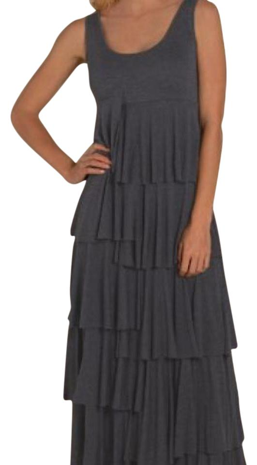 b8d8475177 Soft Surroundings Heather Graphite Dominique Long Casual Maxi Dress ...