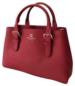 Kate Spade Provence Saffiano Leather Satchel in Red