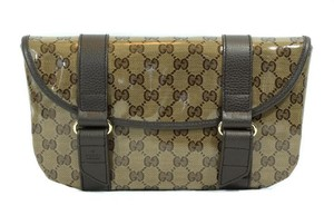 Gucci 374617 Crystal Canvas Travel Bag