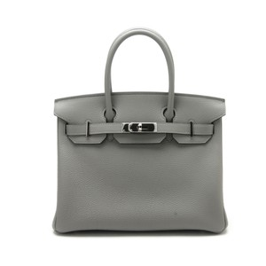 Hermès Birkin Palladium Togo Leather Tote in Mouette Gris