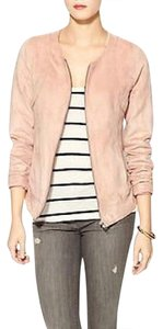 Hive & Honey Moto Bomber Perforated Suede Piperlime Pink Jacket