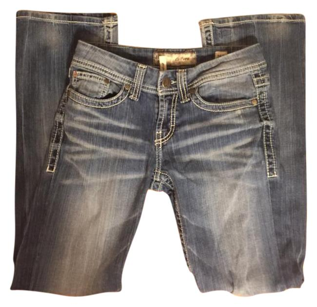 Preload https://img-static.tradesy.com/item/21121794/bke-faded-medium-wash-blue-denim-r-bke-jeans-30-inseam-boot-cut-jeans-size-28-4-s-0-1-650-650.jpg