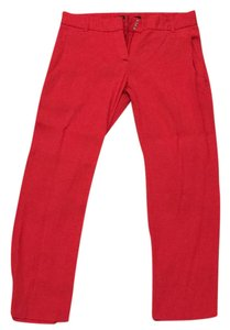Theory Straight Pants red