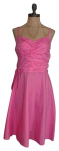 H&M short dress PINK Draped Summer on Tradesy