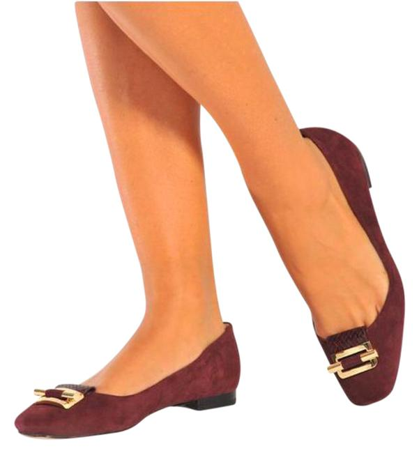 Item - Plum Gloria Suede Ballet Flats Size US 8 Regular (M, B)