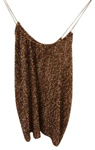 Tucker Going Summer Tank Top Gold Sequins