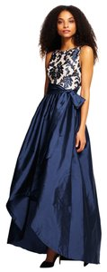 Adrianna Papell Lace Embroidered Taffeta Sash Dress