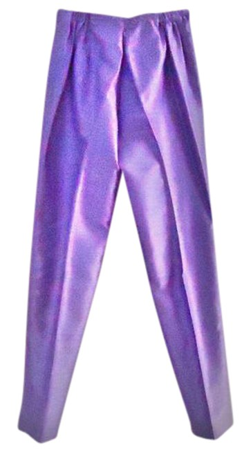 Item - Lilac New Adjustable Waist Raw-silk-textured Machine-washable Pants Size 4 (S, 27)