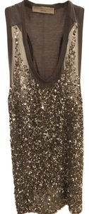 Stella McCartney Sequin Going Out Top Grey and Silver