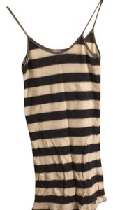 Hollister Top Navy blue and white horizontal stripes