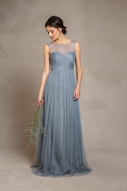 Item - Mayan Blue Tulle Aria Modern Bridesmaid/Mob Dress Size 6 (S)
