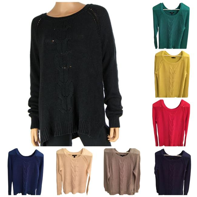 Preload https://img-static.tradesy.com/item/21122028/lands-end-multi-colors-women-s-red-blue-yellow-green-navy-cream-cable-knit-sweaterpullover-size-12-l-0-0-650-650.jpg