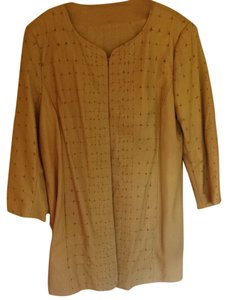 Elie Tahari Fall Butterscotch Leather Jacket