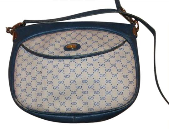 Preload https://img-static.tradesy.com/item/21122073/gucci-vintage-pursesdesigner-purses-white-coated-canvas-with-royal-blue-small-g-print-and-royal-blue-0-1-540-540.jpg