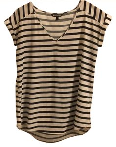 Express Top Black and white horizontal stripes