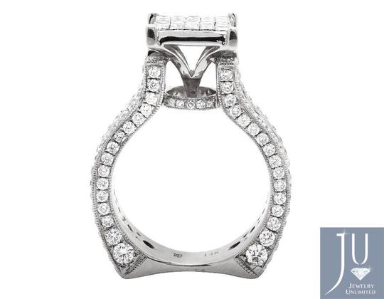 Other 3D Invisible Princess Genuine Round Diamond Engagement Ring 5.0ct