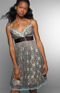 Necessary Objects Lace Strappy Babydoll Tie Dress