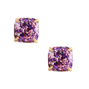 Kate Spade NEW Lamb Jewelry 'Princess' Glitter Stud Earrings 12k Gold