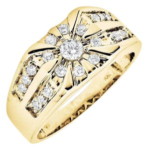Other Solitaire Strip Rows Genuine Diamond Wedding Pinky Ring 1.0ct.